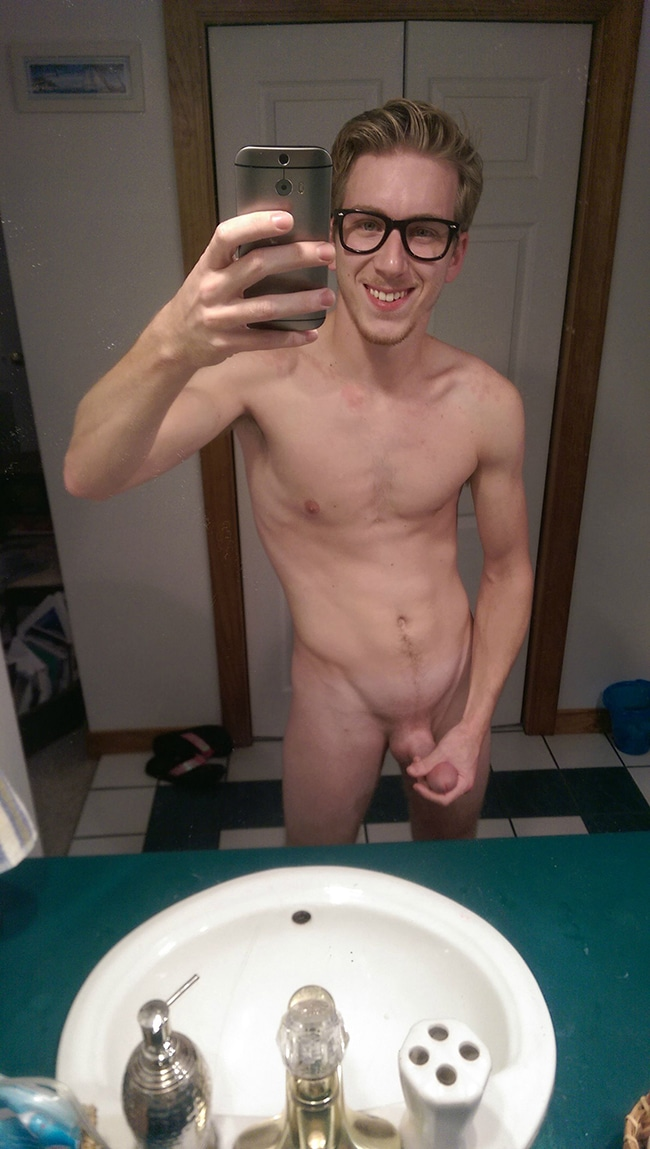 Sexy Blonde Guy Showing His Penis - Sexy Nude Boys